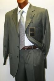 693 Solid Olive Green Business Suit for Men Superior