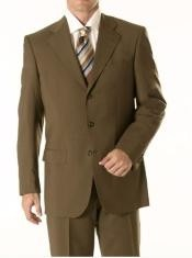 62 Dark Olive Green Business Suit Superior Fabric 150