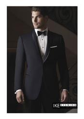 "JSM-2370 ""Waverly"" 1-Button Shawl Black Tuxedo"