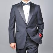 KA1478 Authentic Mantoni Brand Wool Fabric One-button Tuxedo
