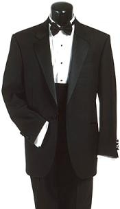 Wool Fabric One Button Tuxedo
