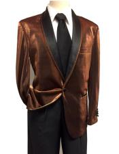CH2194 Mens Unique Shiny Fashion Prom Brown ~ Rust