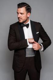 SM5218 Mens Brown Tuxedo
