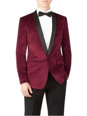 JS314 Mens Slim Fit Burgundy ~ Maroon Tuxedo