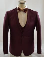 CH2240 Mens 1 Button Peak Lapel Vested suit Peak
