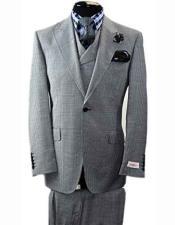 JSM-1435 Mens Tiglio 1 Button 1920s 40s Fashion Clothing
