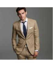 JSM-6850 Mens Khaki Linen Suits