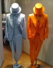 mens Orange ~ Light Blue