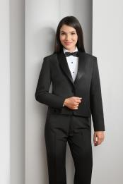 Product#JSM-5115WomensPolyester1ButtonShawlLapelBlackTuxedo