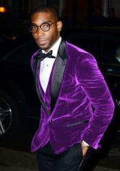 SM5209 Mens Cheap Big And Tall Purple Blazers Velvet