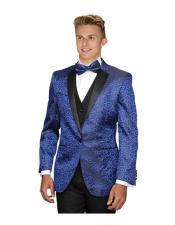 JSM-6273 Mens 1 Button Royal Blue Suit For Men