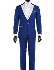 CH2245 Mens Royal Blue Suit For Men Perfect