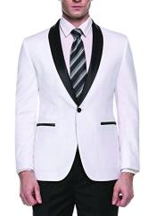 Mens White Slim Fit One