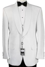 GT-4287 One Button 100% Luxurious Microfiber Fabric White Dinner