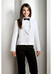Womens White Solid Polyester
