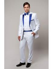 Slim Tux white with Royal