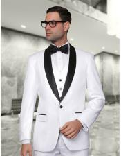 GD1105 Mens Statement Single Breasted White Modern Fit 3