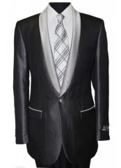 mens Black Shawl Collar Single