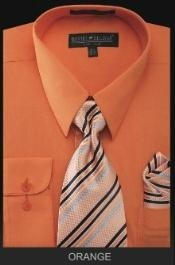 OR4343 Dress Shirt - PREMIUM TIE - Orange