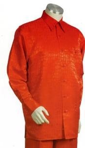 Orange Long Sleeve 2pc Set