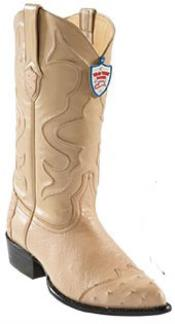 HT7555 Wild West Oryx J-Toe Smooth Ostrich Wing Tip