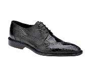 JSM-1337 Belvedere Nino Black Ostrich Eel Brogue Shoes