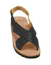 JSM-5321 Mens Exotic Skin Sandals in ostrich or Alligator