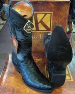 SM181 King Exotic Boots Genuine Ostrich Snip Toe Leather
