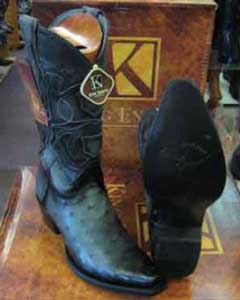 SM183 King Exotic Boots Genuine Ostrich Skin Snip Toe