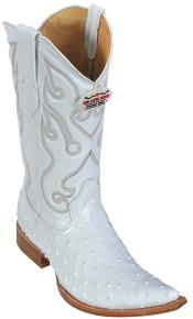 KA6390 Ostrich Print White Authentic Los altos Cowboy Boots
