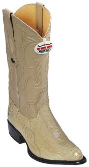KA2854 Ostrich Leg Leather Beige Authentic Los altos Cowboy