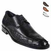 KA6277 Ostrich Skin Dress Shoe – Liquid Jet Black