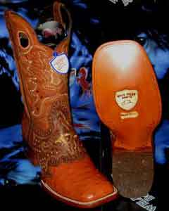 RN7302 Wild West Genuine Ostrich Square Cognac Rodeo Western