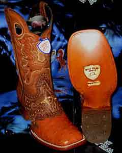 PR6739 Wild West Genuine Ostrich Square Cognac Rodeo Western