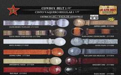 Ostrich Leg Cowboy Belt