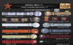 OP4366Genuine Ostrich Leg Cowboy Belt 15 Width