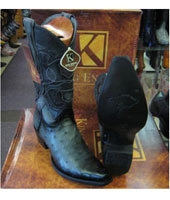 RM1028 King Exotic Boots Genuine Ostrich Snip Toe Western