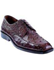 JSM-4938 Mens Brown Genuine Ostrich Oxfords Style Los Altos