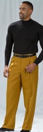 JSM-2193 Pacelli Pleated Baggy Fit Bronze Dress Pants 1920s