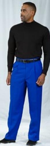 JSM-2185 Pacelli Pleated Baggy Fit Royal Blue Dress Pants