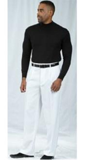 Product#JSM-2201PacelliPleatedBaggyFitWhiteDressPants1920s