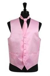 Vest Tie Set Pink