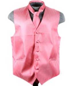 VS6250 Vest Tie Set Coral ~ Peach