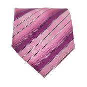 Pink Striped Neck Tie