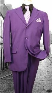 KZ10290 Superior Fabric 120S G-Purple Solid Color Suit