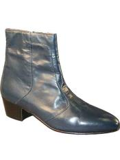 Mens Navy Genuine Leather