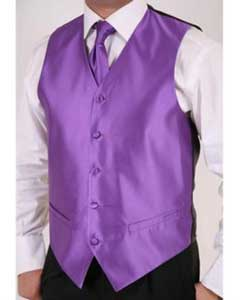 AB139 Purple color shade 2-Piece Vest Set