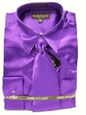 EJ818 New Purple color shade Satin Dress Shirt Tie