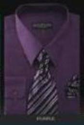 d1pws2MU Conservative Style Dark Purple color shade Dress Shirt&Tie&HANKIE