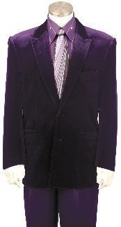 Velvet Suit Purple color